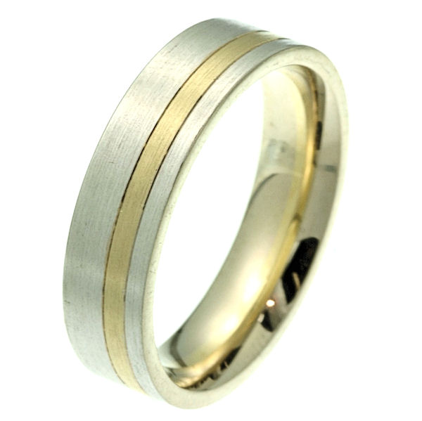 Item # 2100511E - 18K Gold, Comfort Fit, 6.0mm Wide Wedding Band View-1
