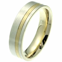 Item # 2100511PE - Platinum-Gold, Comfort Fit Wedding Band