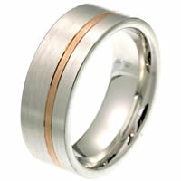 Item # 2100571PE - Platinum-Gold, Comfort Fit Wedding Band