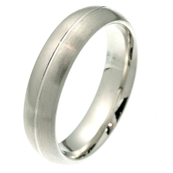 2101011W 14K Comfort Fit 55mm Wide Wedding Band