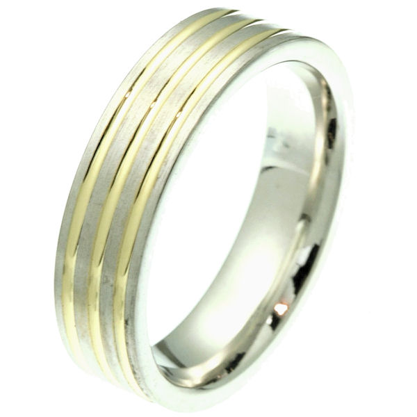 18K Gold Comfort Fit, 6.0mm Wide Band