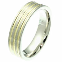 Item # 2101721E - 18K Gold Comfort Fit, 6.0mm Wide Band