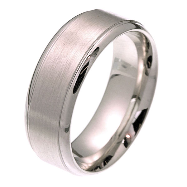 2102511W Comfort Fit 80mm Wide Wedding Band