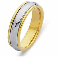 Item # 210435E - 18 Kt Two-Tone Gold Wedding Band