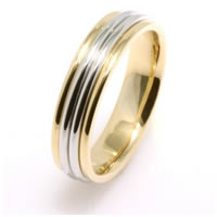 Item # 210445PE - Wedding Band Platinum-18K Gold
