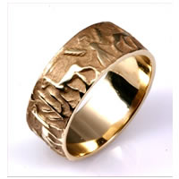 Item # 2105210 - 10.0mm Wide, Ancient Motifs Wedding Band
