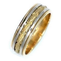 Item # 210688PE - Wedding Ring, 18 kt White and Yellow Gold