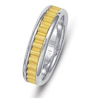 Item # 211031APE - Platinum-Gold Comfort Fit Wedding Band