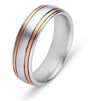 Item # 211161PE - Platinum and 18 Kt Yellow Gold Wedding Band