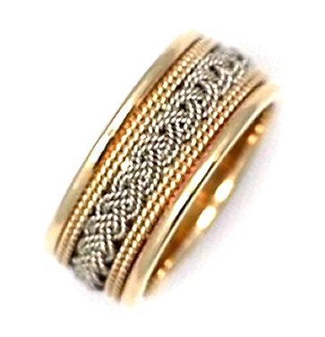 Item # 21118 - The weave, Handcrafted Wedding Band View-1