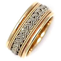 Item # 21118 - The weave, Handcrafted Wedding Band