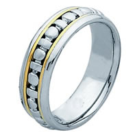 Item # 211281PE - Platinum and 18 Kt Wedding Band