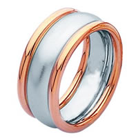 Item # 211301PE - Platinum and 18Kt Rose Wedding Band