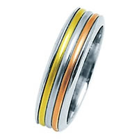 Item # 211321PE - Platinum and 18 Kt Wedding Band