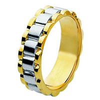 Item # 211371E - 18 Kt Two-Tone Wedding Band