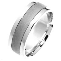 Item # 211411W - 14 Kt White Gold Wedding Band