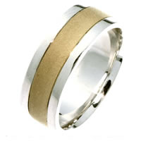 Item # 211411PE - Platinum and 18 Kt Wedding Band