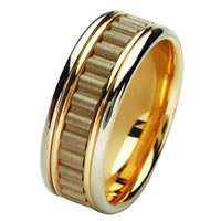 Item # 211431PE - Platinum and 18 Kt Wedding Band