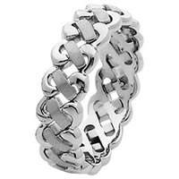 Item # 211471PP - Platinum Hand Made Braided Wedding Band