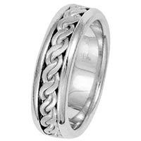Item # 211491WE - 18 Kt White Gold Hand Made Braided Wedding Band