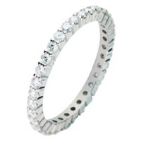 Item # 212091WE - Diamond Eternity Ring 18Kt White Gold