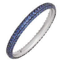 Item # 212101WE - Sapphire Eternity Ring 18Kt White Gold