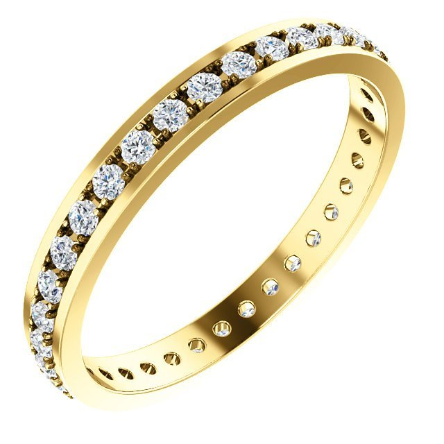 Diamond Anniversary Band 18K Yellow Gold