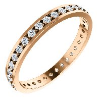 Item # 212141RE - 18K Rose Gold Diamond Anniversary Band