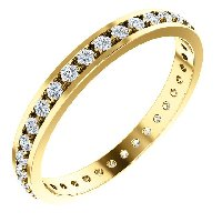 Item # 212141E - Diamond Anniversary Band 18K Yellow Gold