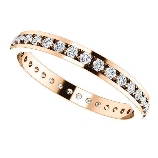 Item # 212141RE View 5 - 18K Rose Gold Diamond Anniversary Band