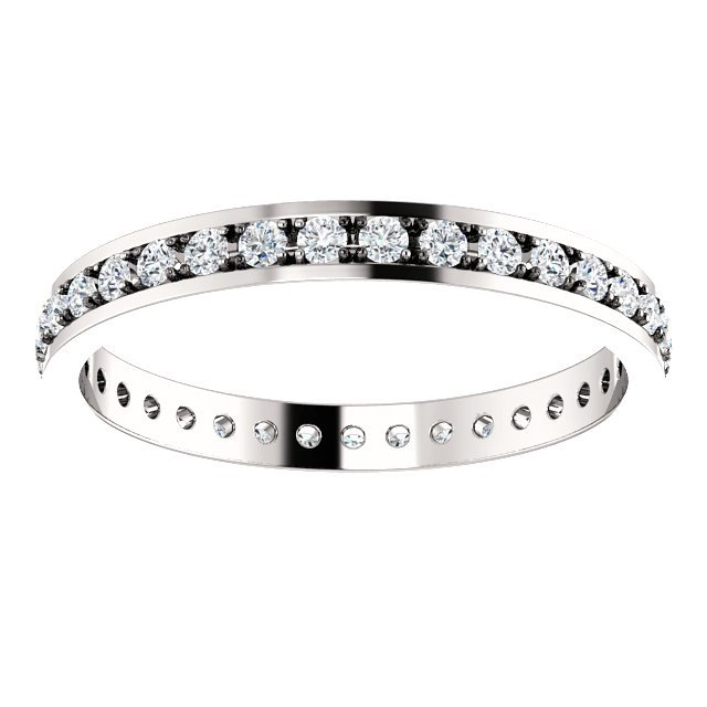 Item # 212141WE View 2 - Diamond Anniversary Band 18K White Gold