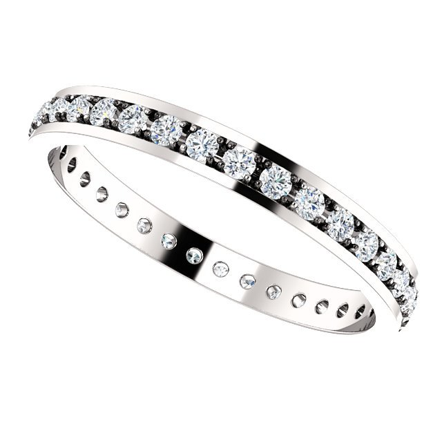 Item # 212141WE View 3 - Diamond Anniversary Band 18K White Gold