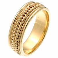 Item # 212361E - 18 Kt Yellow Gold Braided Wedding Band