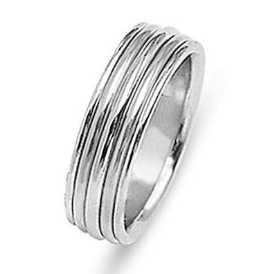 Item # 213478W - Hand crafted, 14 kt white gold comfort fit band. The ring is 8.0 mm wide and polished finish. Different finishes may be selected or specified.