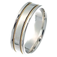 Item # 213506PE - Wedding Band Handcrafted 18KT Gold  Passion
