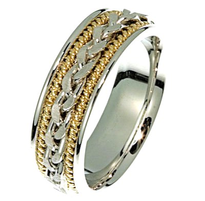 Item # 21397 - Wedding Ring, 14kt two-tone View-1