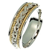 Item # 21397PE - Wedding Ring, Platinum & 18 kt