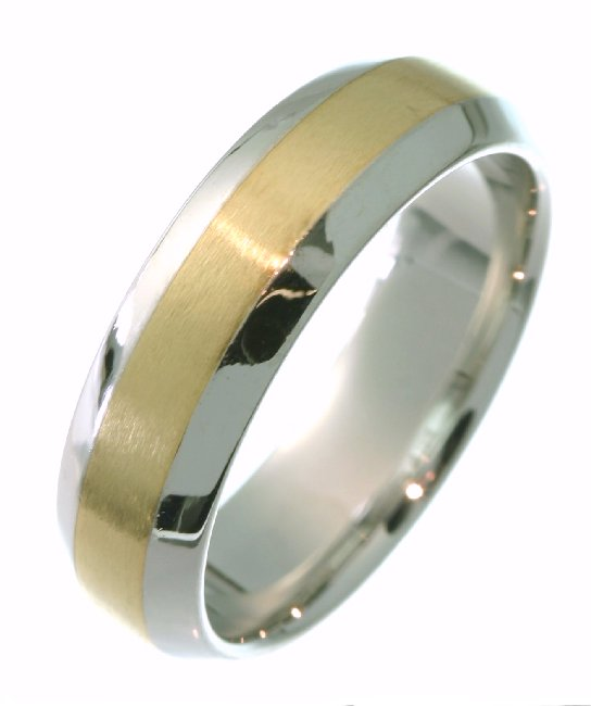 18 Kt Two-Tone Wedding Band