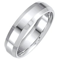 Item # 214106WE - 18 Kt White Gold Wedding Band