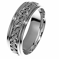 Item # 21471PP - Hand Crafted Platinum Wedding Band