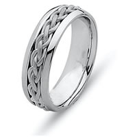 Item # 21473PP - Platinum Hand Made Wedding Ring