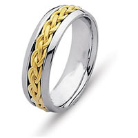 Item # 21473 - 14K Two Tone Wedding Ring.
