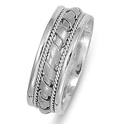 Item # 21474PP - Hand Crafted Platinum Ring View-1