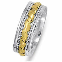 Item # 21474PE - Platinum & 18 kt Wedding Band