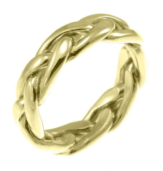 14K Celtic Knotted Wedding Ring