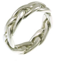 Item # 21476W - 14K Celtic, Knotted Wedding Band