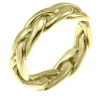 Item # 21476E - 18K Celtic Braided Wedding Ring