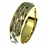 Item # 21498E - 18 Kt Two-Tone Crafted Ring