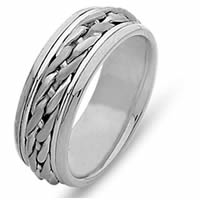 Item # 21499WE - Hand Braided 18 Kt White Gold