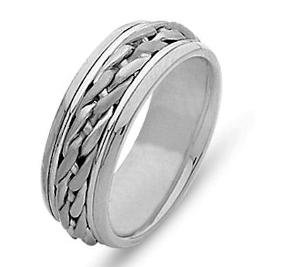 Wedding Ring, 18 Kt White Gold